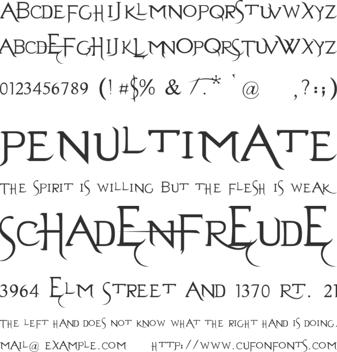Evanescent font preview