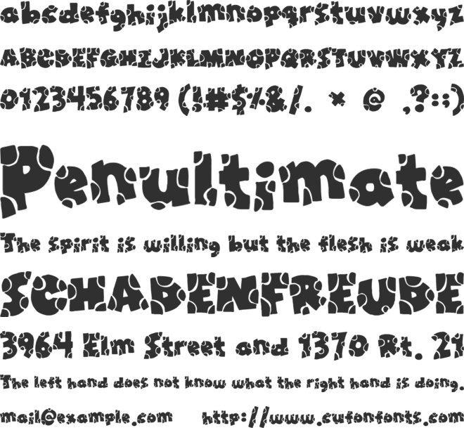 Broken Toys font preview