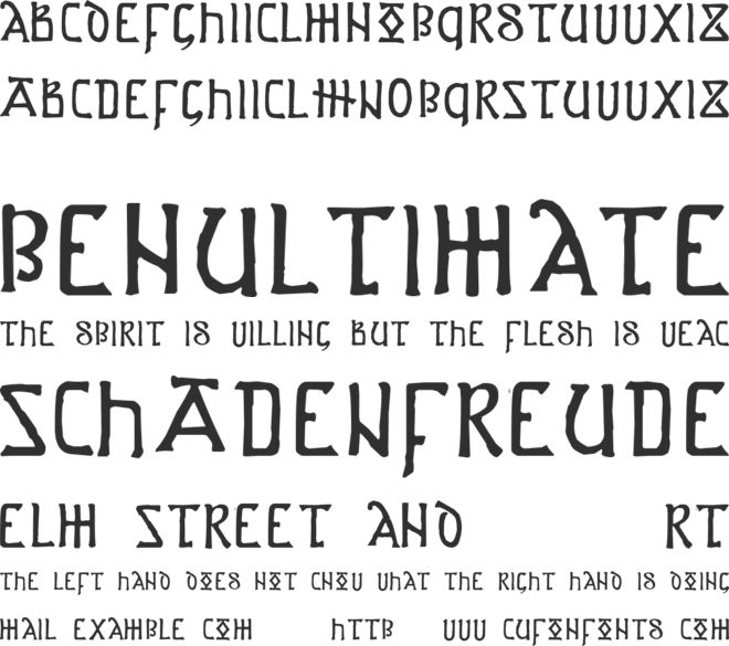 Anglo-Saxon Project font preview