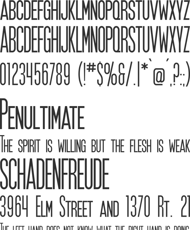 SF Movie Poster font preview