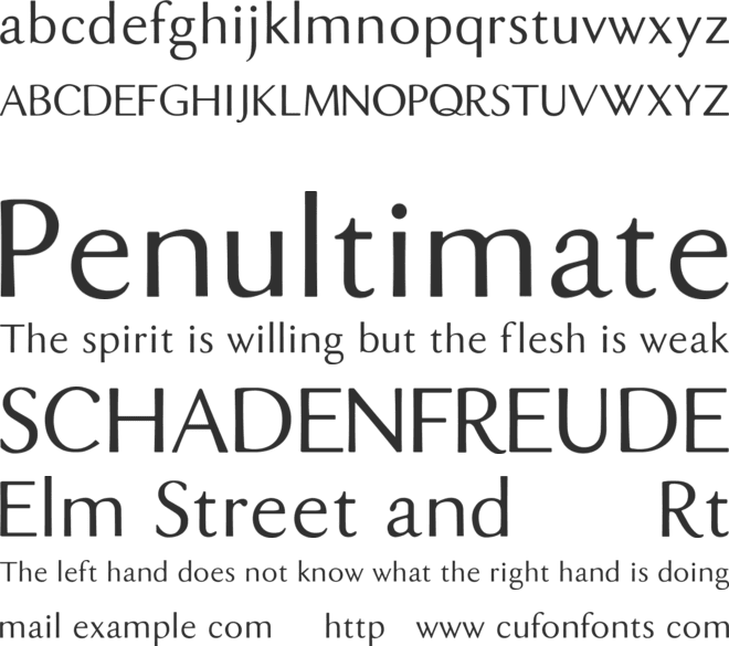 DualisLite font preview