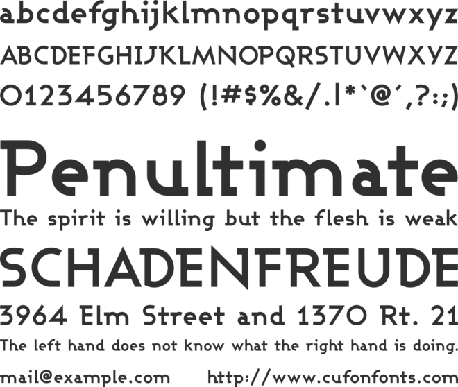 Ashby font preview