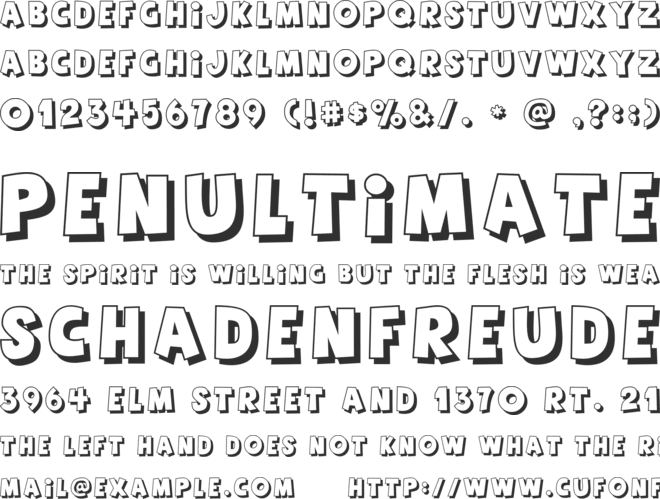 Agent Red font preview
