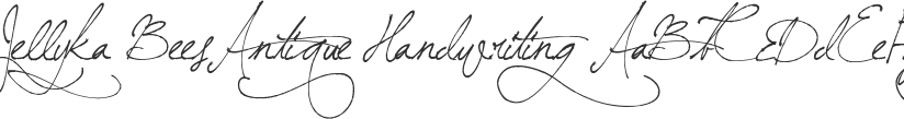 Jellyka BeesAntique Handwriting font download