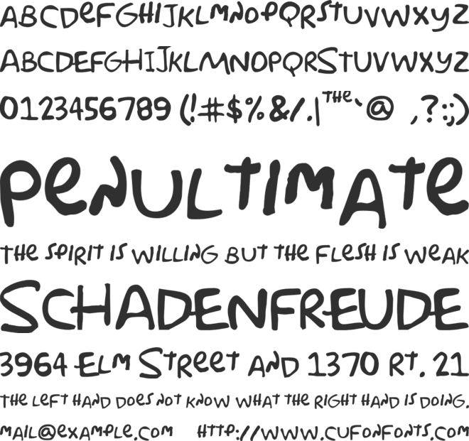 Simpsonfont font preview