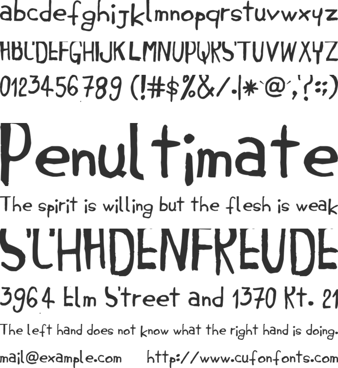 Jembo Hands font preview