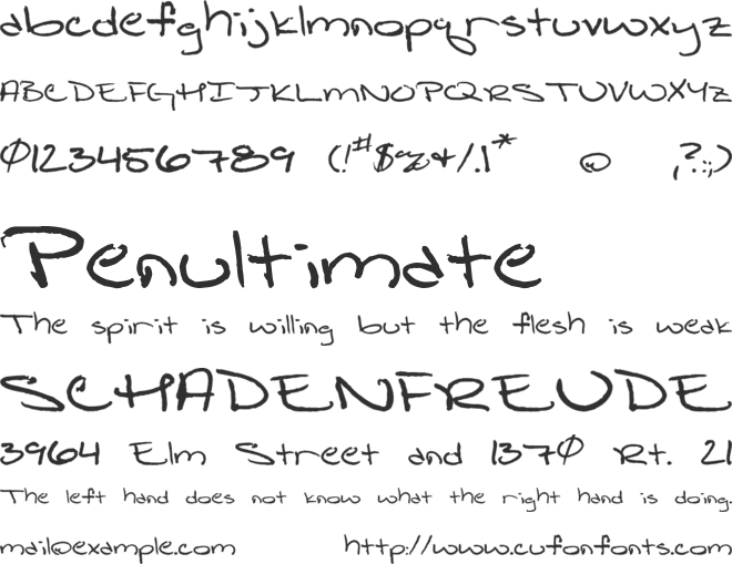Shattered Print font preview