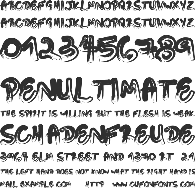 Touching Letters font preview