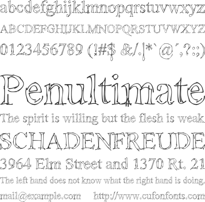 !Sketchy Times font preview