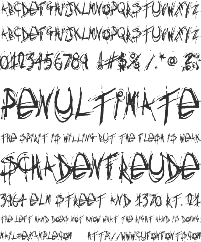 Anything you want font preview