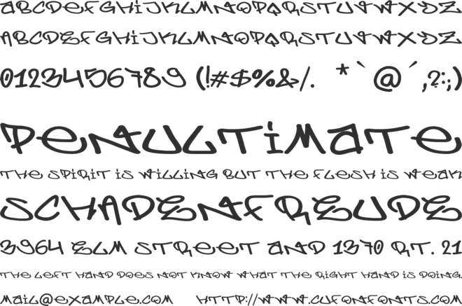 Berlin Graffiti font preview