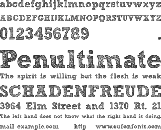 Sketch Block font preview