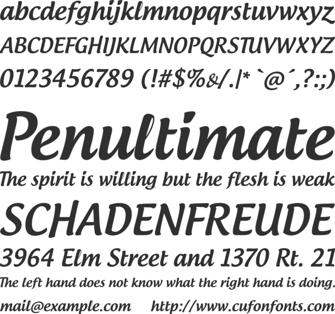 Androgyne font preview