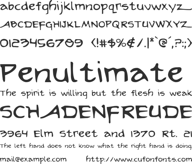 Arilon font preview