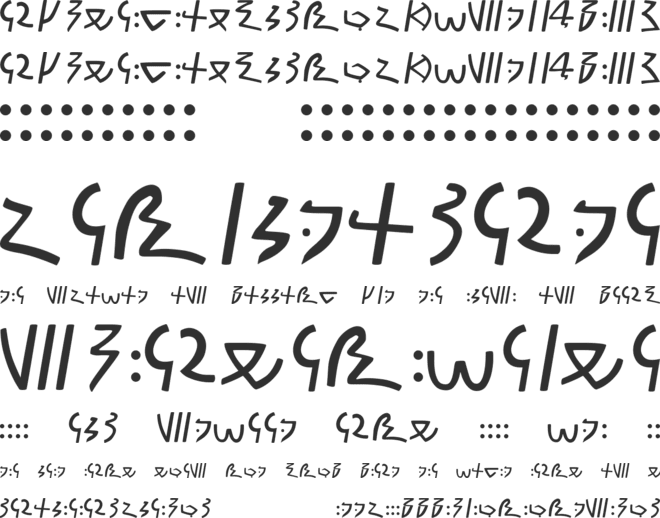 Meroitic Demotic font preview