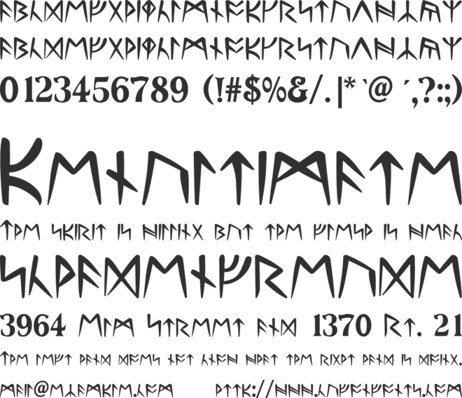Ultima Runes font preview