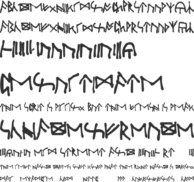Oxford Runes font preview
