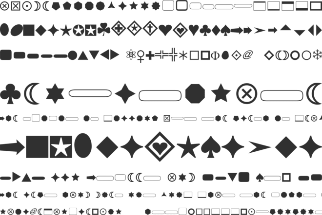 FnT Basic Shapes 1 font preview