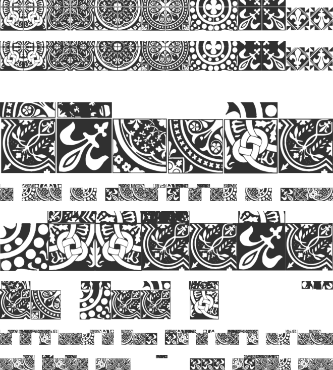 Medieval Tiles font preview