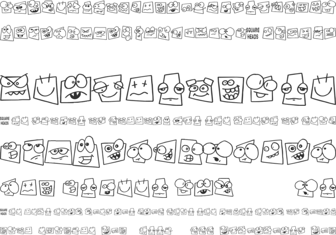 Squareheads font preview