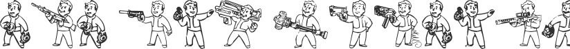 Pip Boy Weapons Dingbats font download