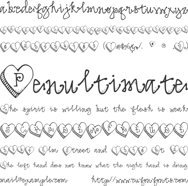 DJ Candy Heart font preview