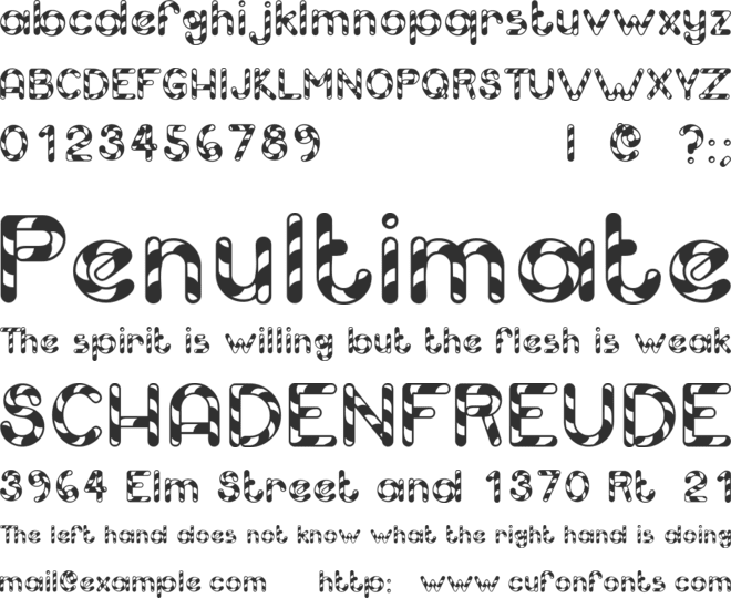 Candy Cane font preview