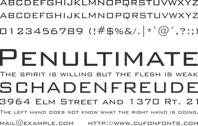 BankGothic Lt BT font preview