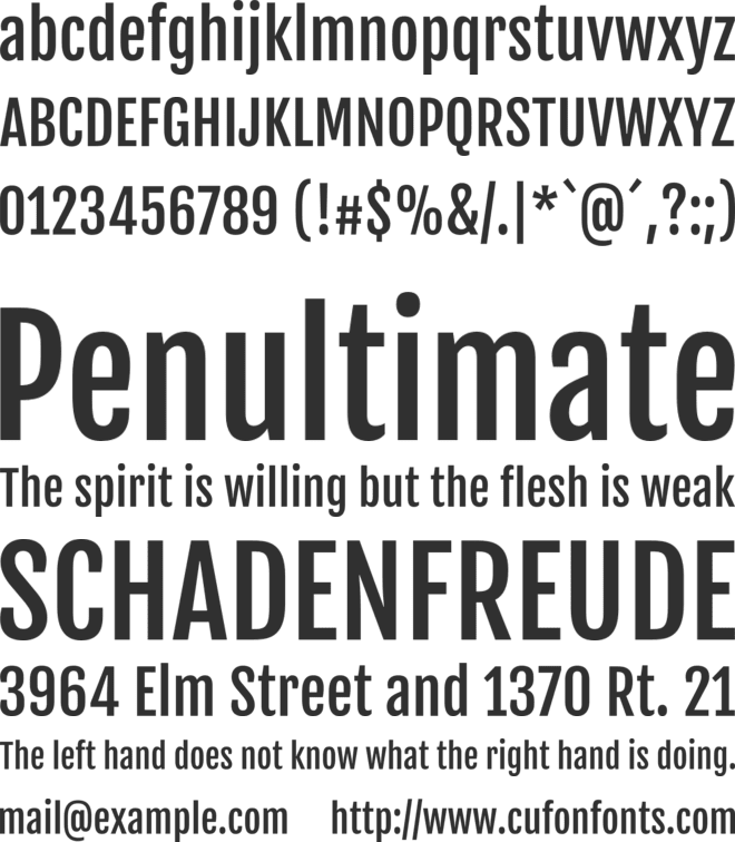 FjallaOne font preview