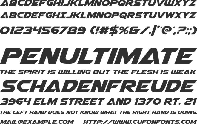 Airstrike font preview