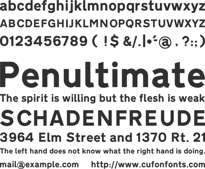 Transport Heavy font preview