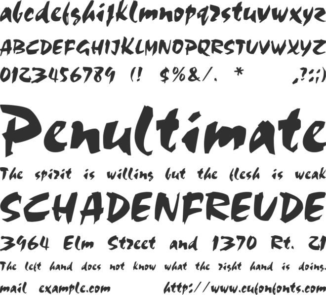 Olivia Brush font preview