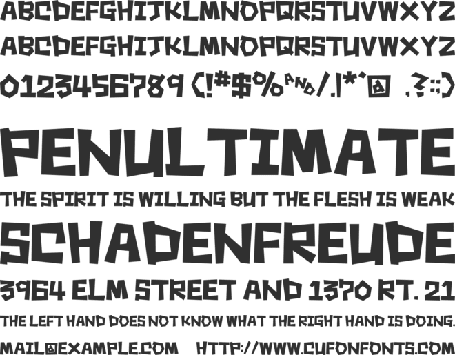 Square Rough font preview