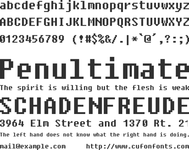 Fixedsys Excelsior 3.01 font preview