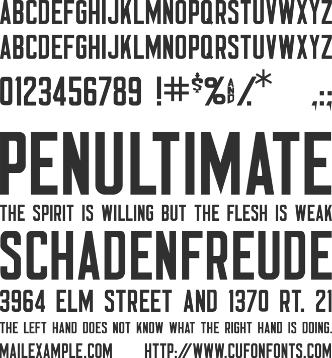 Nomad font preview