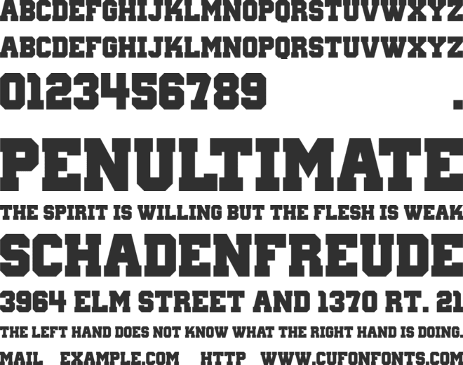 Wanted M54 font preview