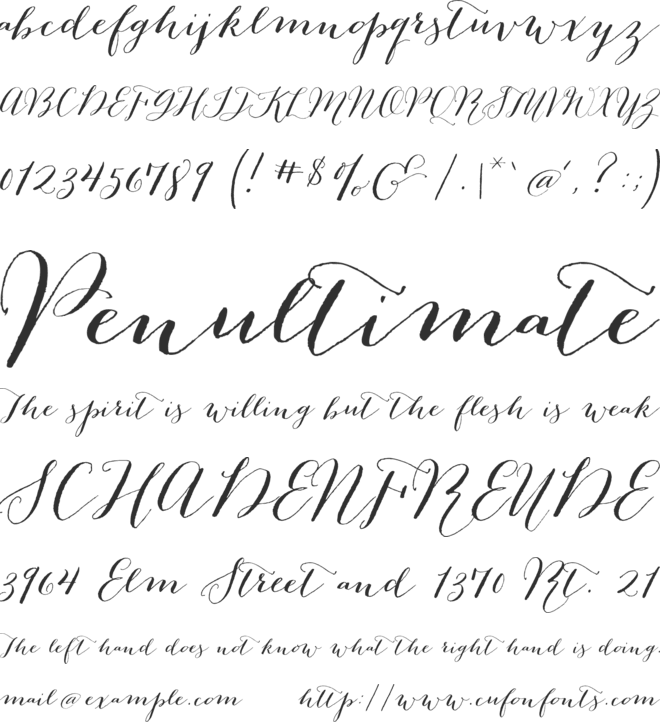 Bombshell Pro font preview