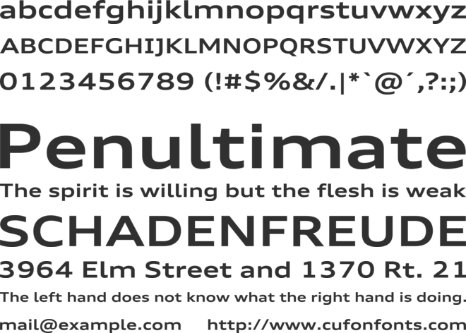 audi type extended bold font download