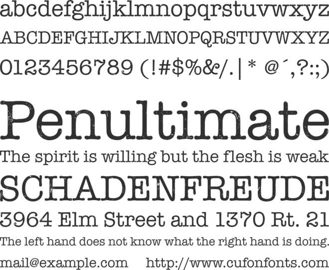 Linowrite font preview