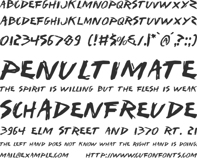 I Want My TTR ! font preview