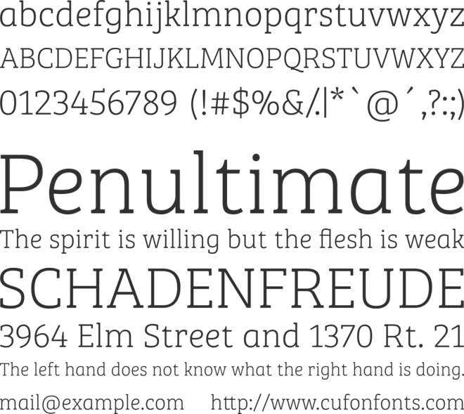 Bree Serif Th font preview
