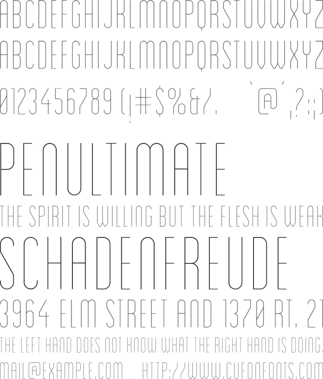 Blanch Condensed Light font preview