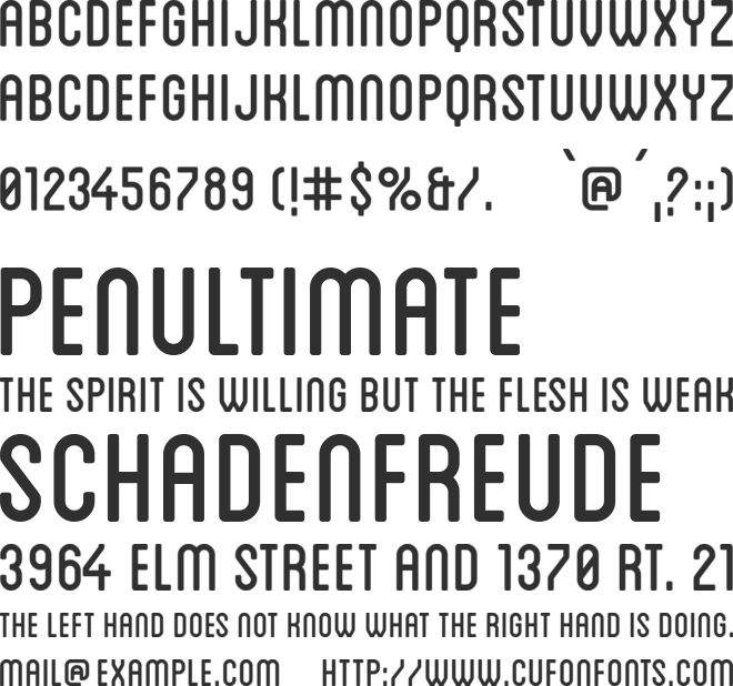 Blanch Caps font preview