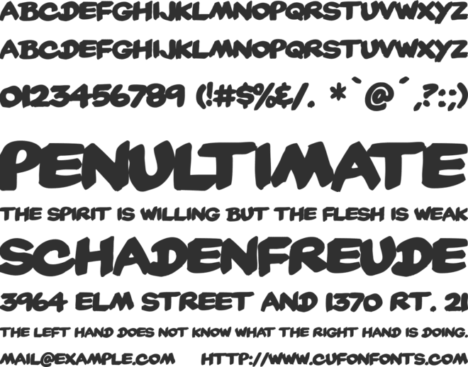 Yard Sale font preview