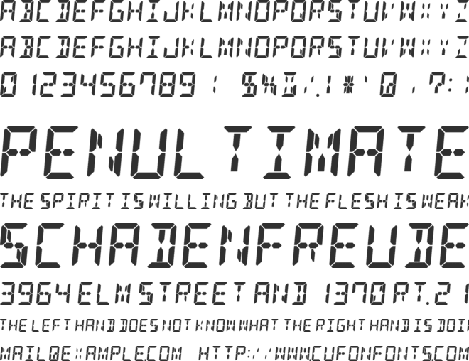 DSEG14 Classic font preview
