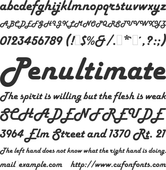 Harlow Solid LET font preview