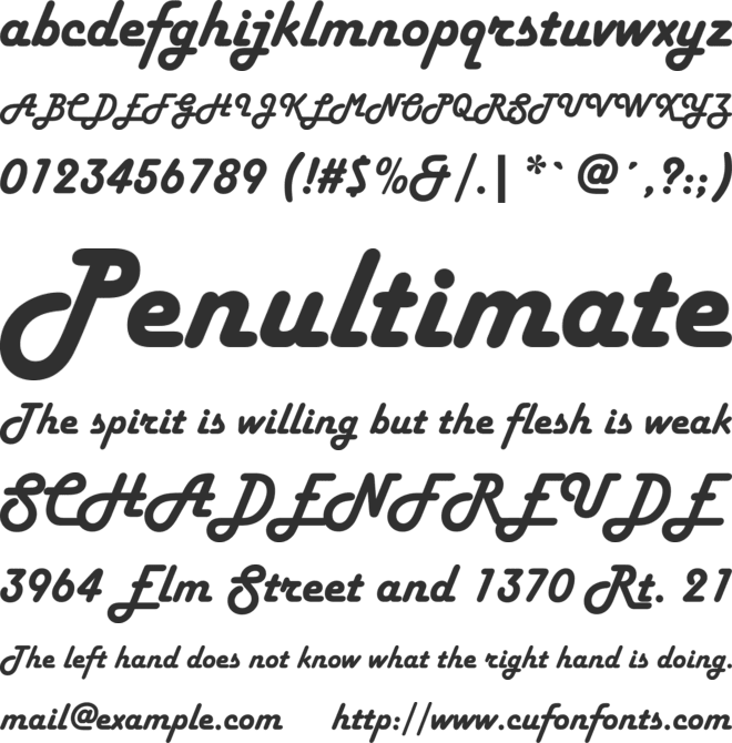 Harlow Solid Italic font preview