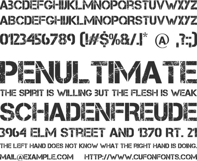Capture it font preview