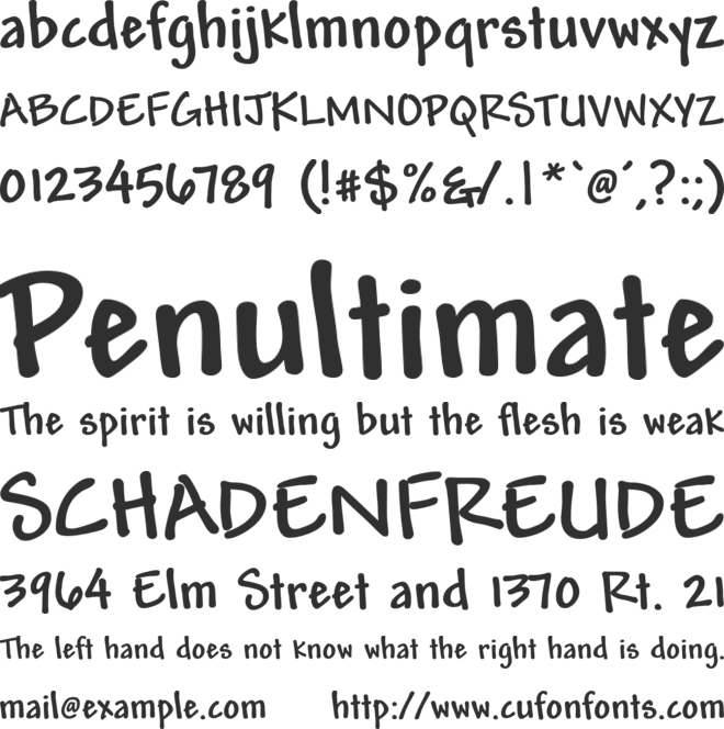 Mead Bold font preview