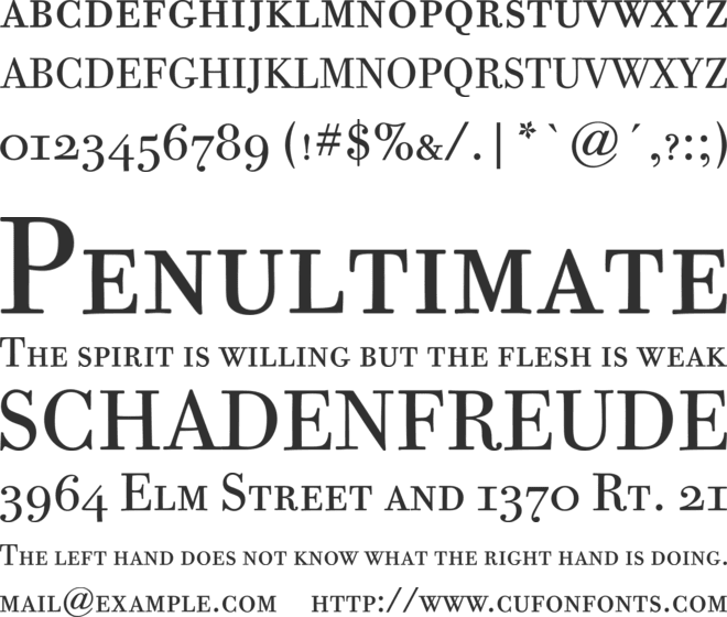 Bodoni Twelve SC ITC TT font preview